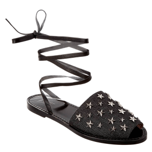 Sepatoo Sandals Black Star Studded Fall 2018